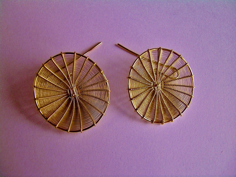 earrings Maja Houtman gold