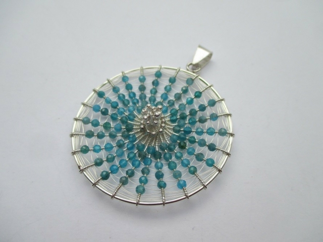 heavenly blue pendant Maja Houtman