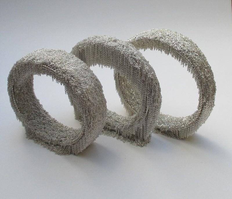 silver bracelets of the Silver Flece Collection,, Maja Houtman